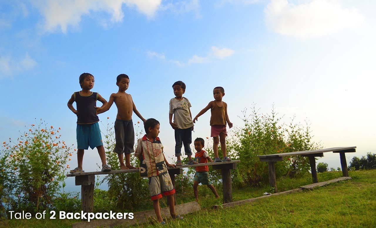 Children playing at Lepchakha