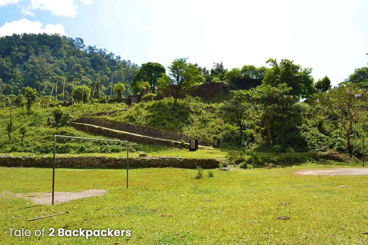 The field in front of Buxa Fort