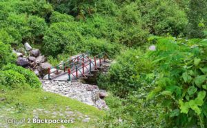 Trek route from Buxa Fort to Lepchakha