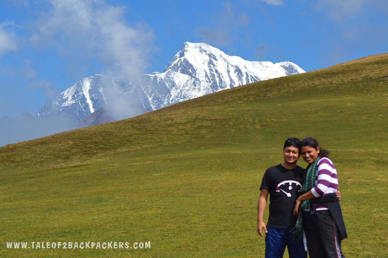 2 Backpackers at Ali Bugyal