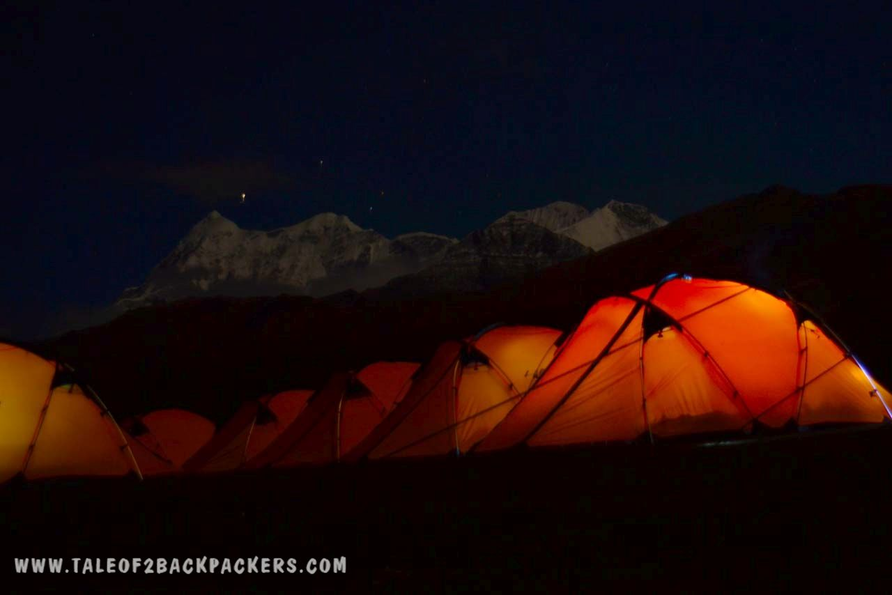 Camps during the night