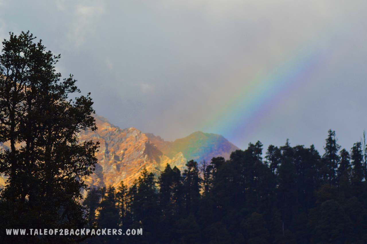 Rainbow in the mountain