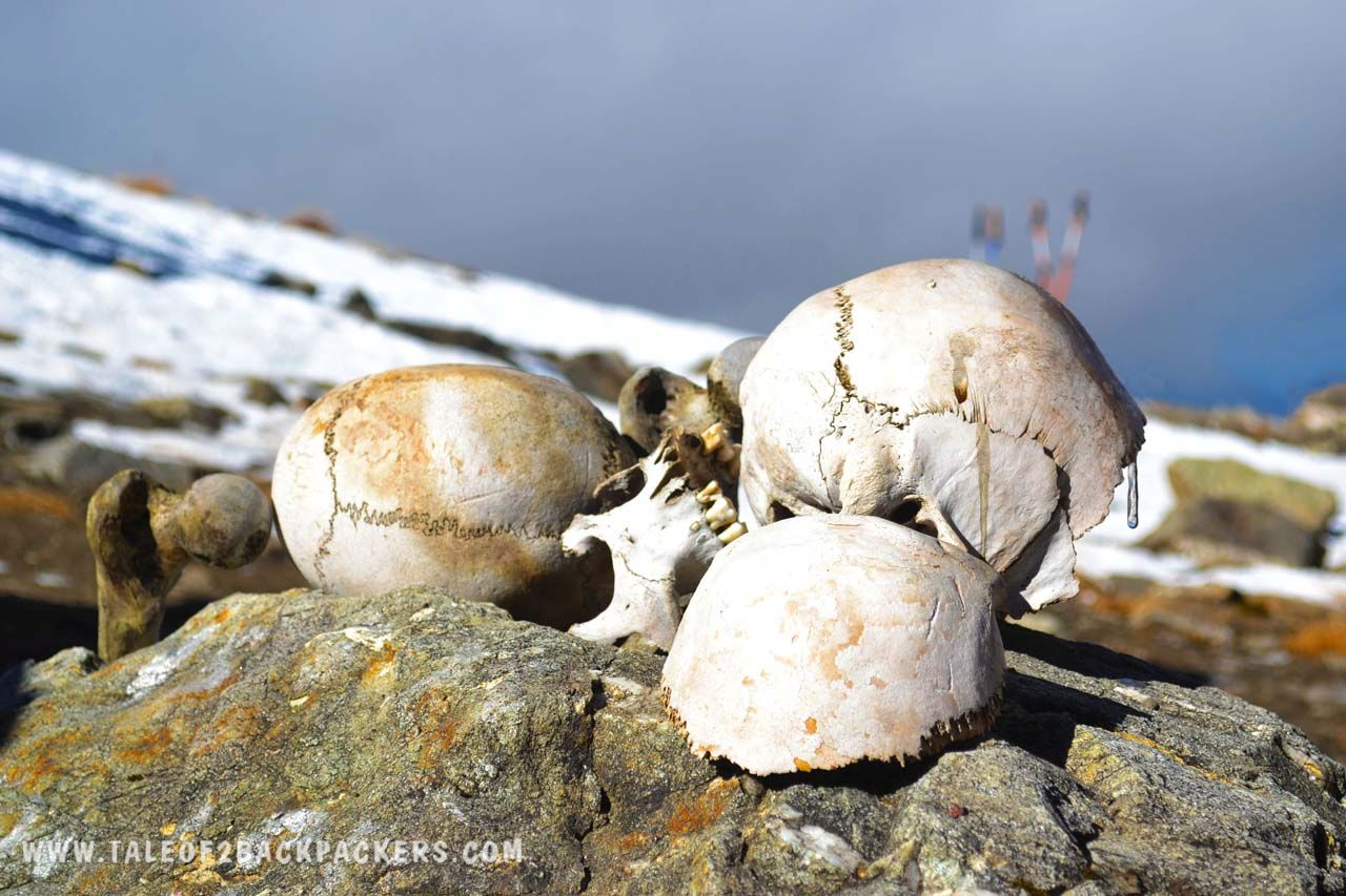 Skeletons at Roopkund trek