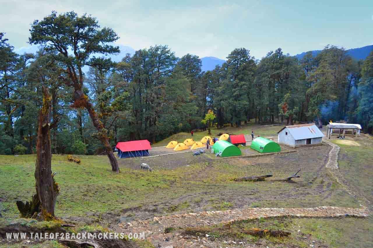 campsite at Gehroli Patal