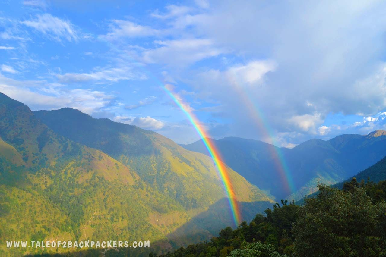 ouble rainbow at Lohajung