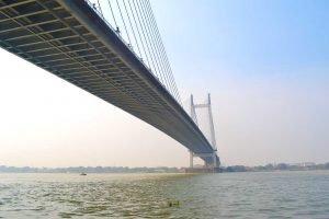 Second Hooghly Bridge from Princep Ghat