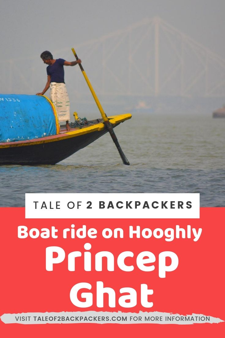 Taking a boat ride in Hooghly River