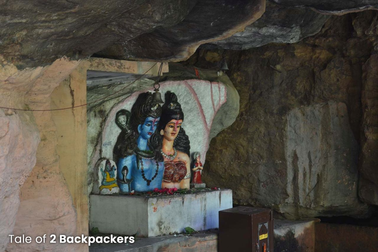 Shiva Parvati idol at Bada Mahadeo Pachmarhi