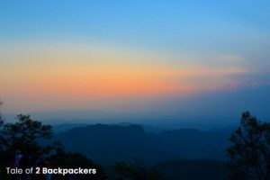 Sunset at Dhoopgarh in Pachmarhi