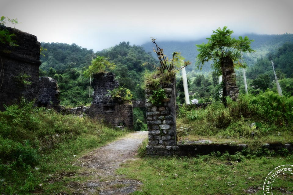 Ruins of Buxa Fort – in urgent need of maintenance