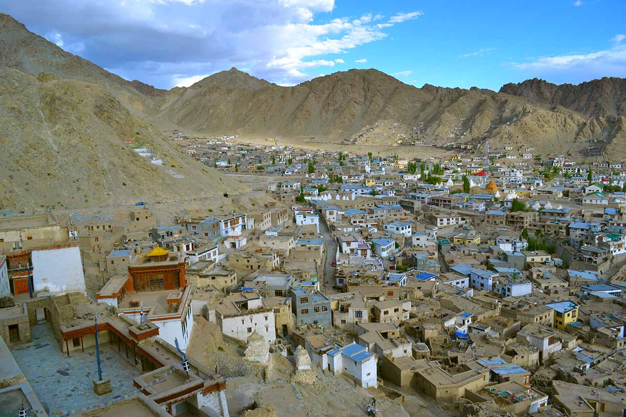 View of Leh city from Leh Palace