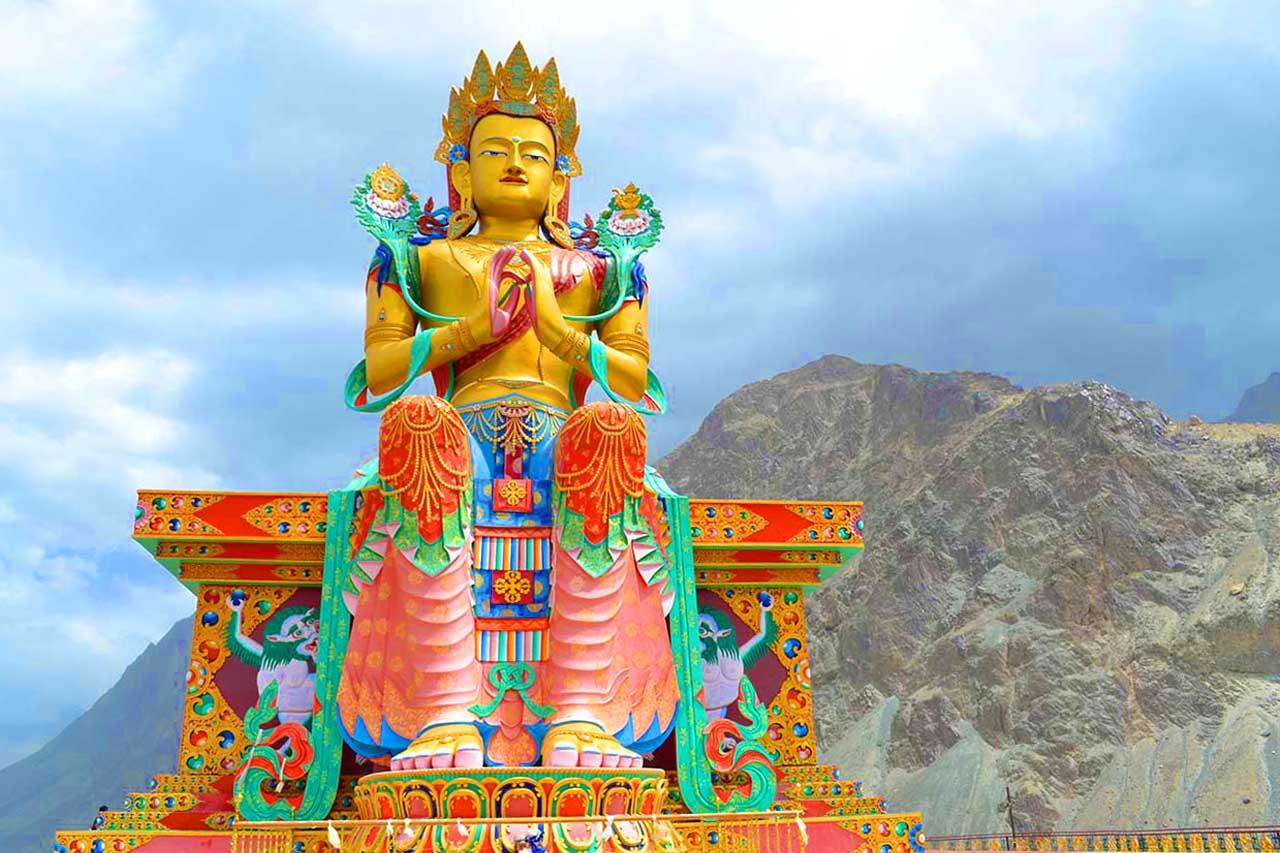 Maitreya Buddha Statue at Diskit Ladakh