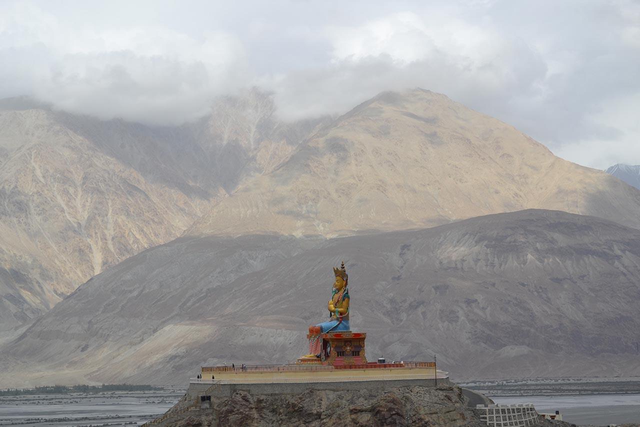 Maitreya Buddha statue at Diskit Nubra Valley Ladakh