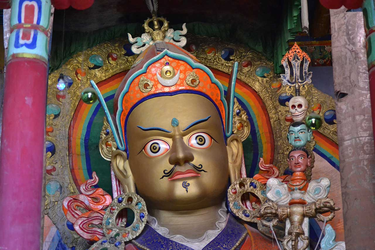 Statue of Rinpoche - Monasteries of Ladakh