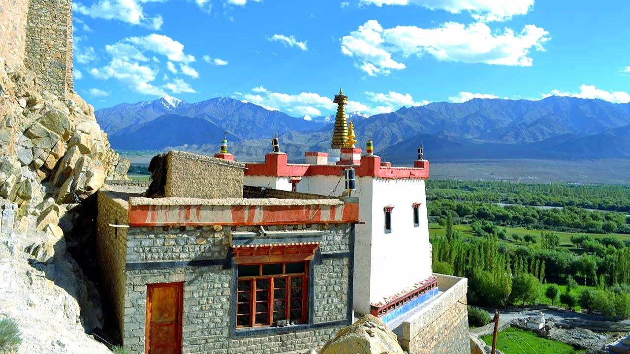 View from Spituk Monastery Ladakh