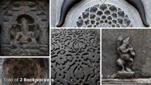 Hindu and Islamic motifs at Adina Mosque Malda