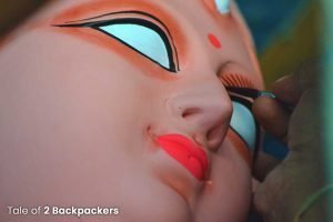 Chokkhudan of Durga idol