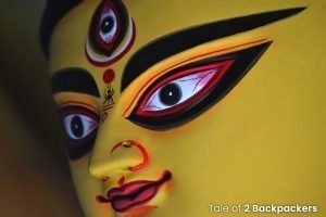 the face of Durga pratima
