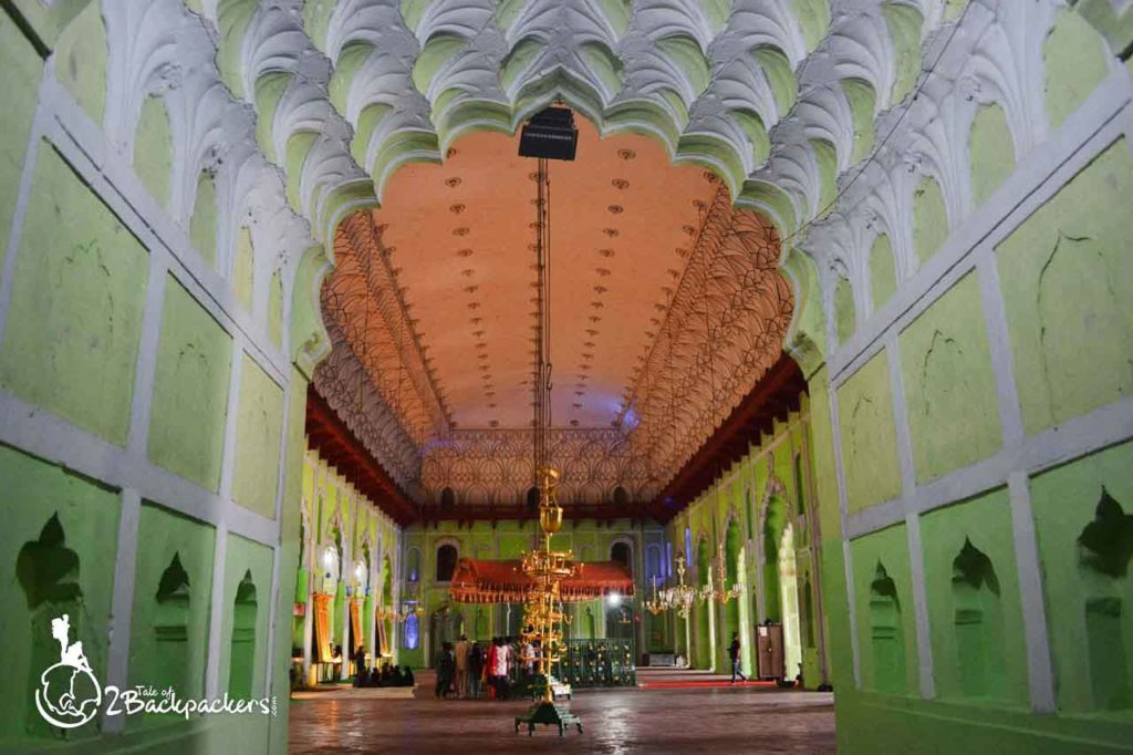 The central hall of Bara Imambara in Lucknow