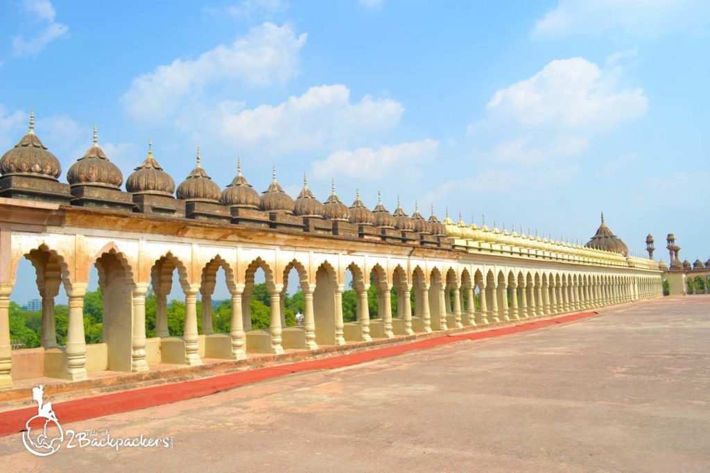 The terrace at Bara Imambara in Lucknow - Lucknow travel blog