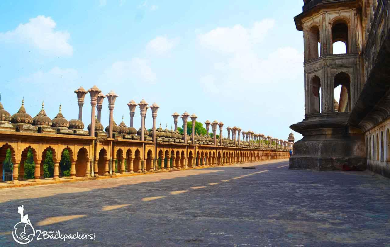 The terrace of Bada Imambara in Lucknow