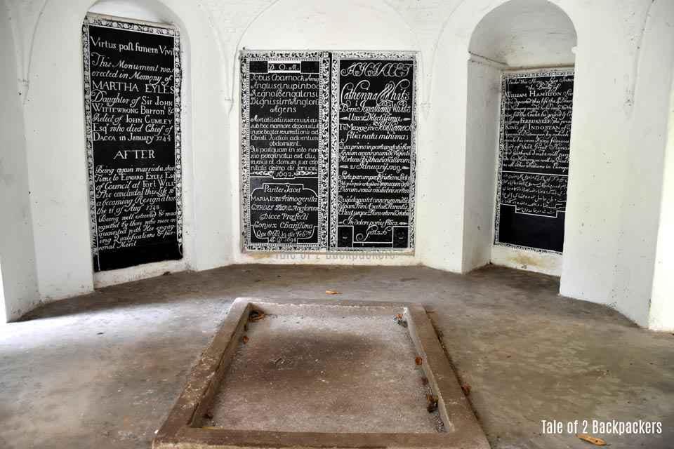 Interiors of Job Charnock Tomb