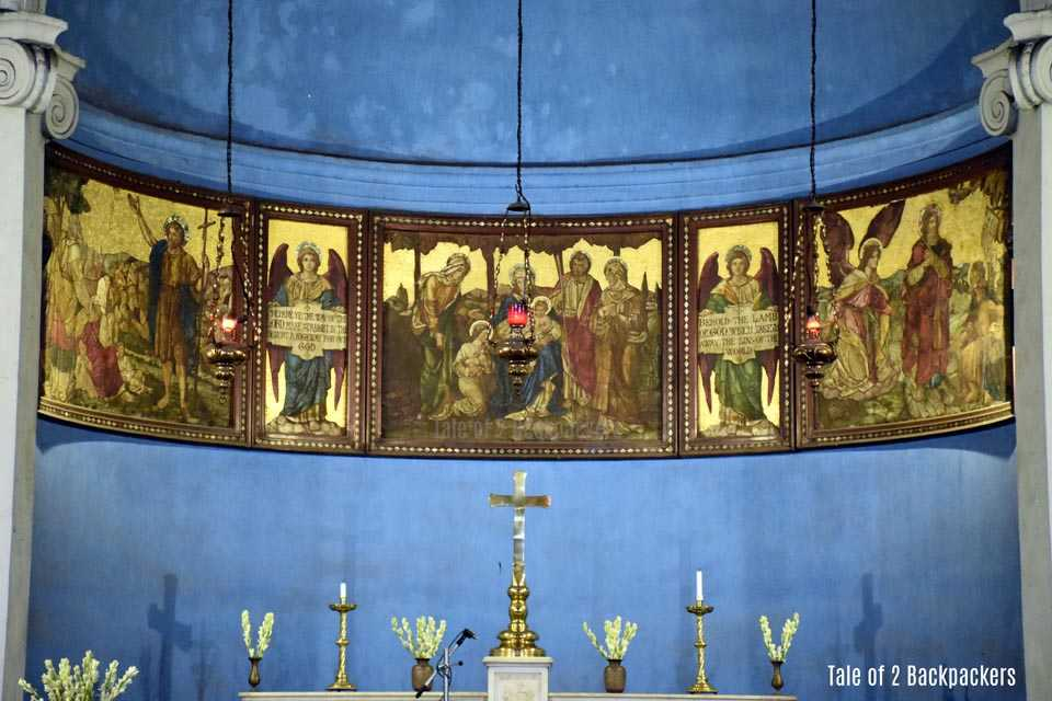 The altar at St Johns Church Kolkata