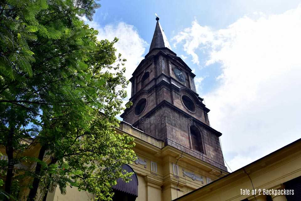 The steeple of St Johns Church Kolkata