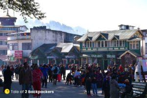 Crowd at Darjeeling Mall