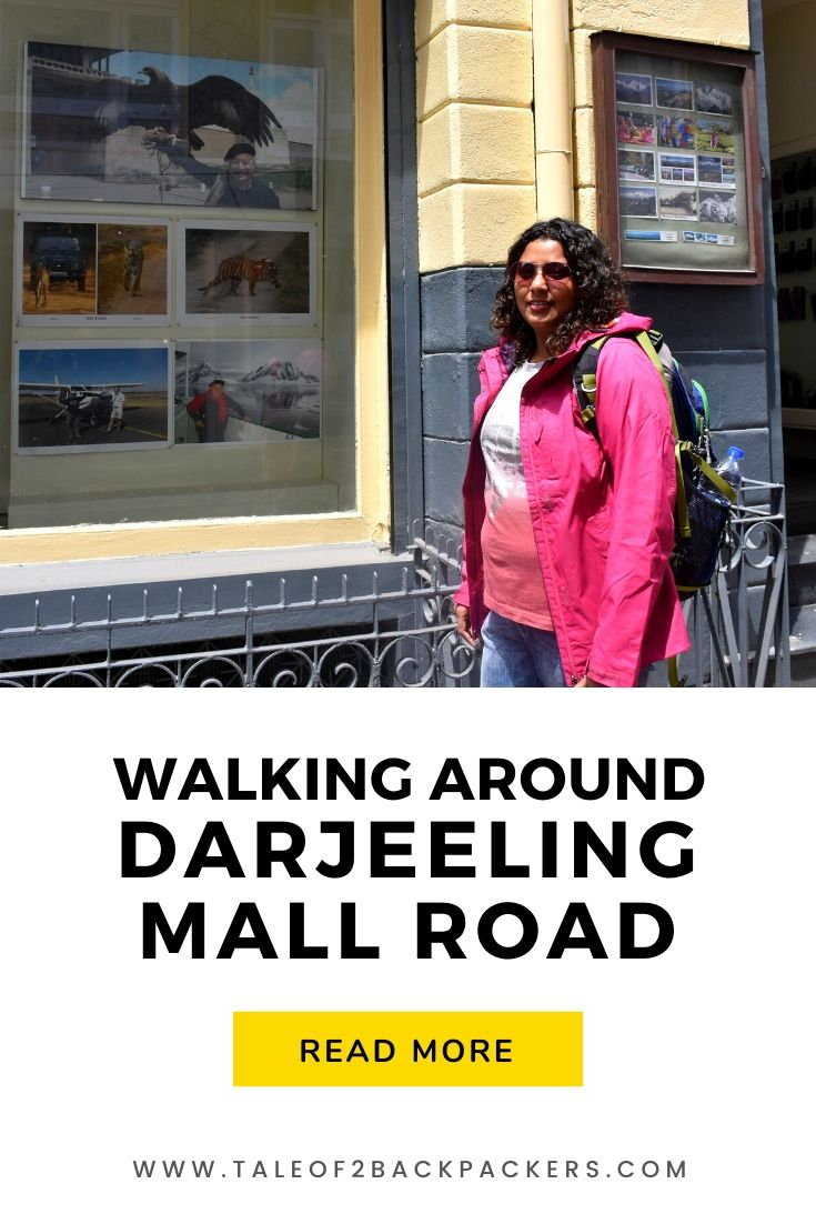 Walking around Darjeeling Mall Road
