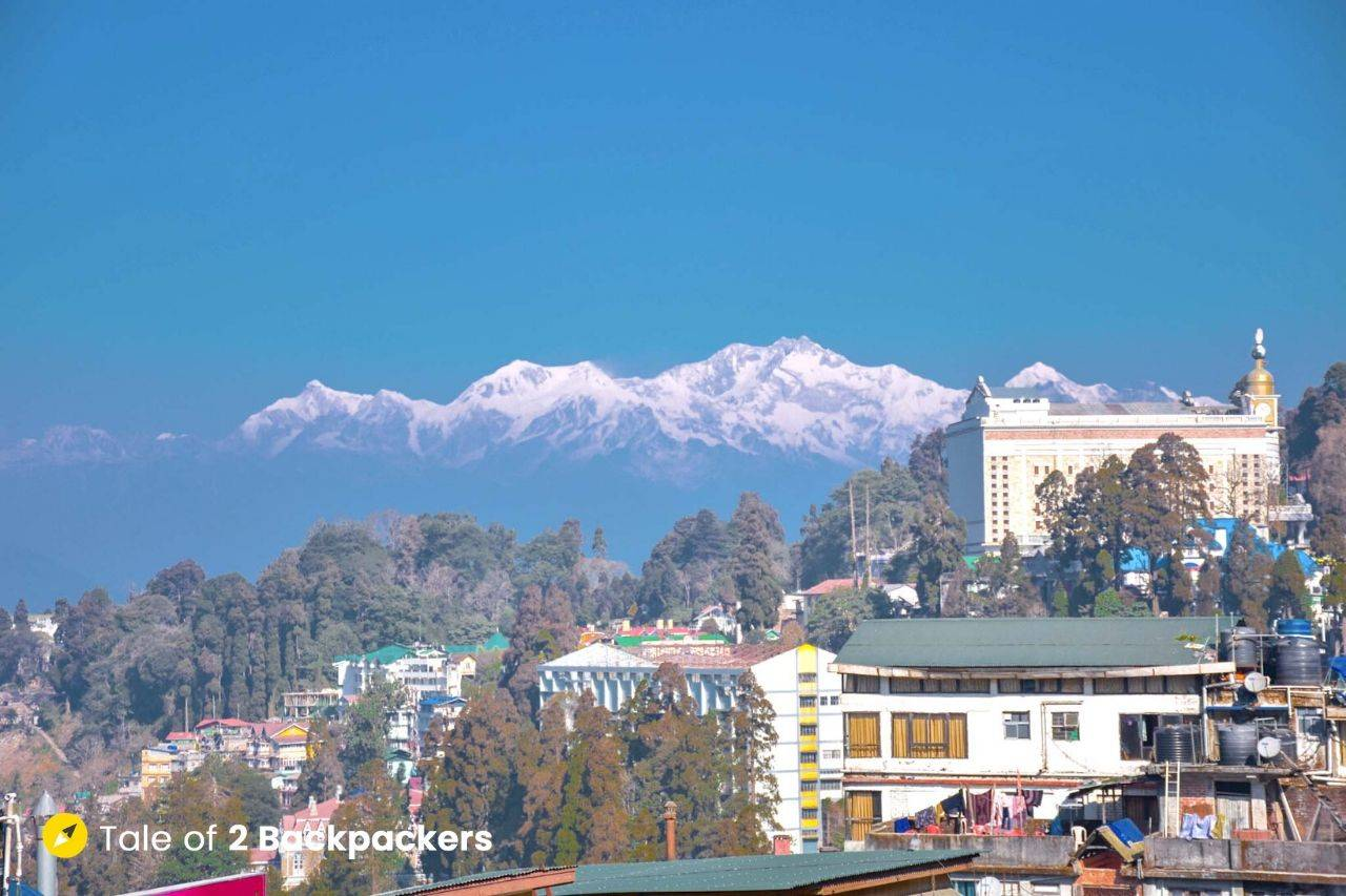 View of Kanchenjunga from Darjeeling Mall