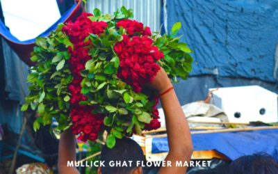 Chaotic canvas of Mullick Ghat Flower Market of Kolkata