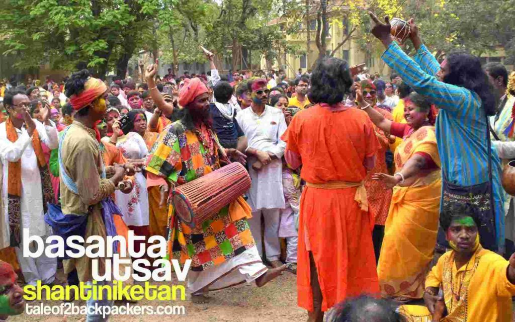 Baul song performance at Shantiniketan during Basanta Utsav