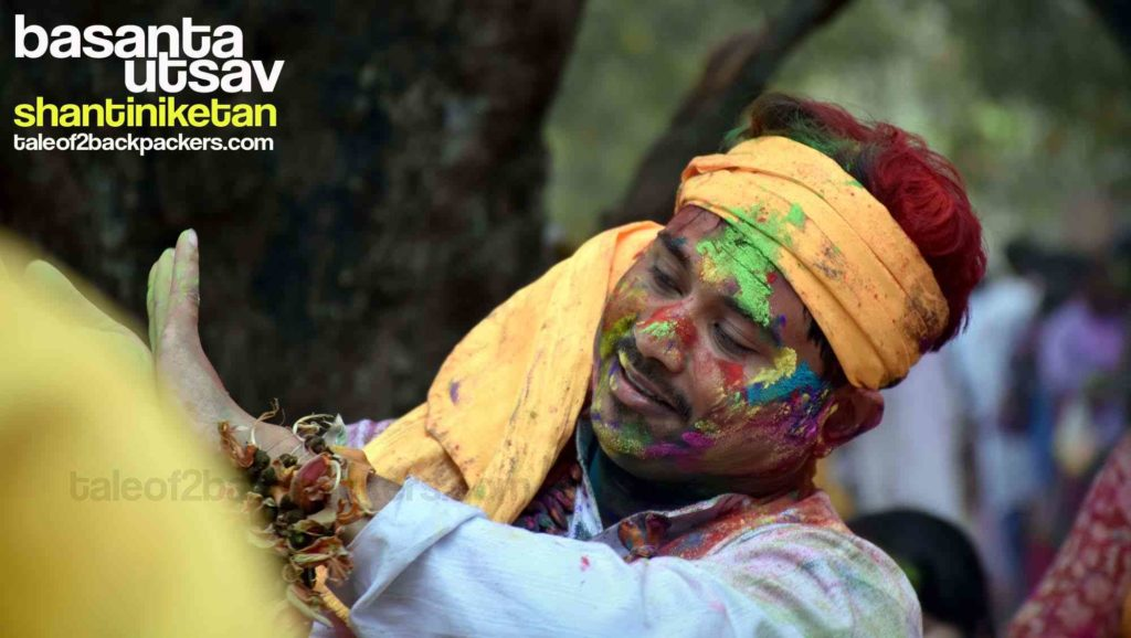 Song and dance performance at Shnatiniketan during Holi