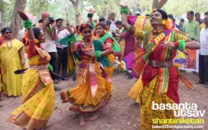 Rabindra Sangeet and dance performances at Visva Bharati ground - Basanta Utsav at Shantiniketan