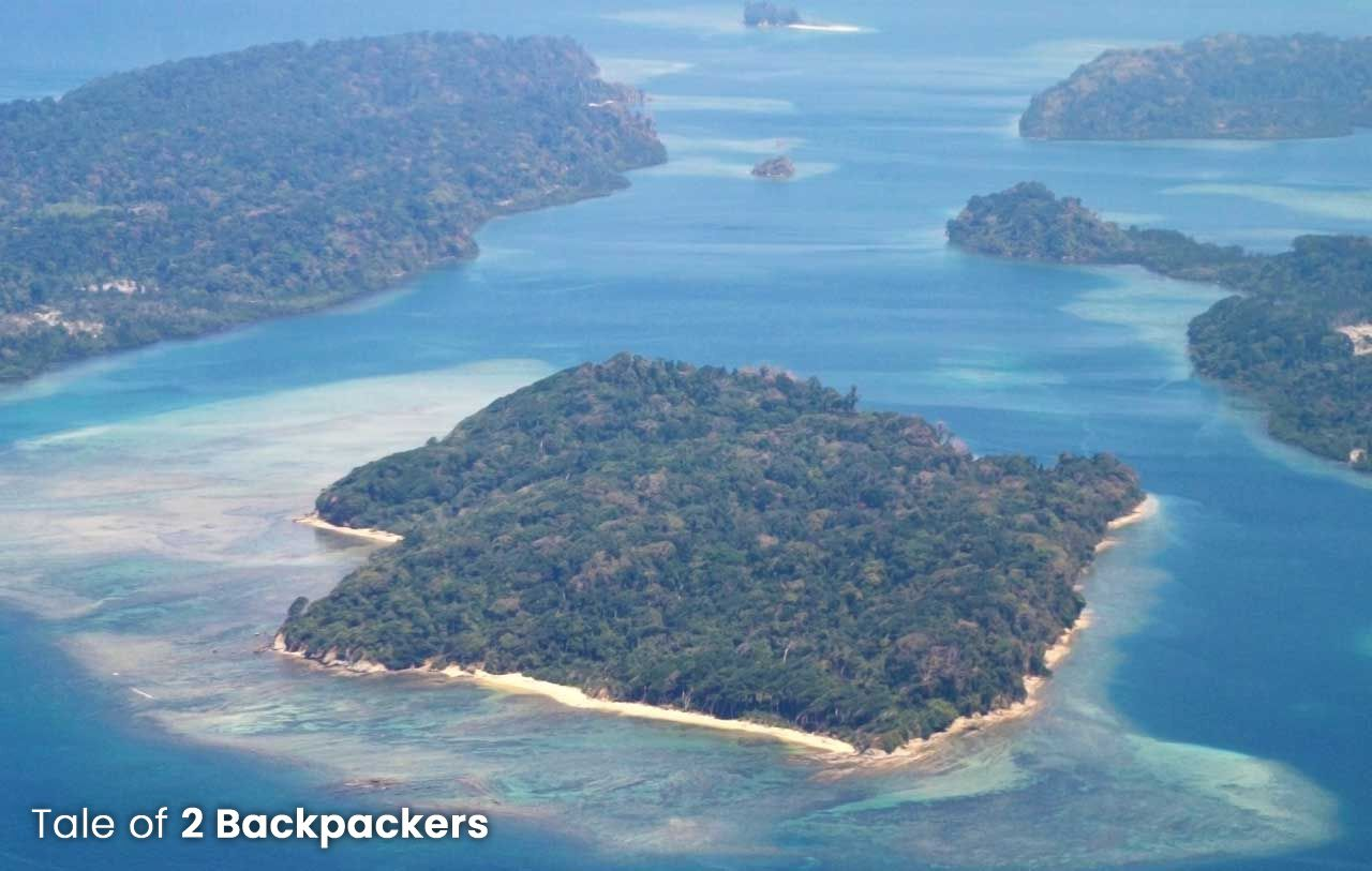 Aerial view of Andaman from flight