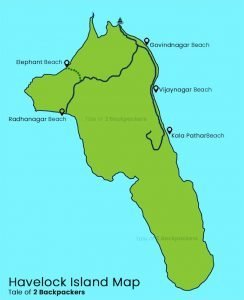 Havelock Island Map