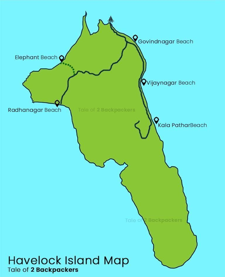 Havelock Island Map