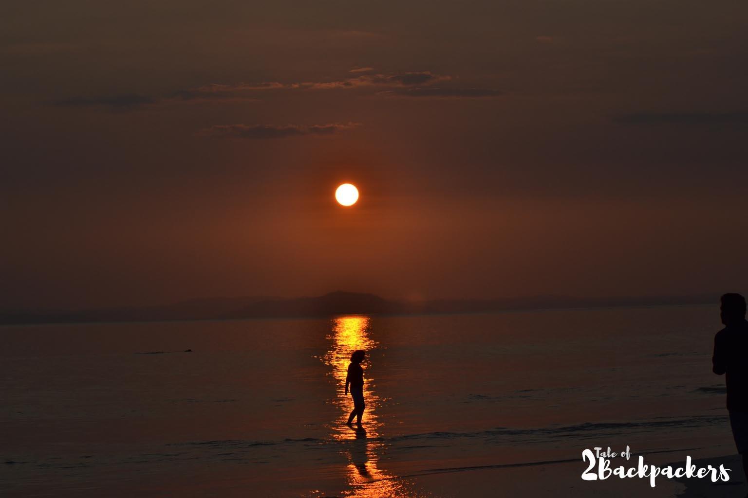Sunset at Radhanagar Beach- things to do at Havelock