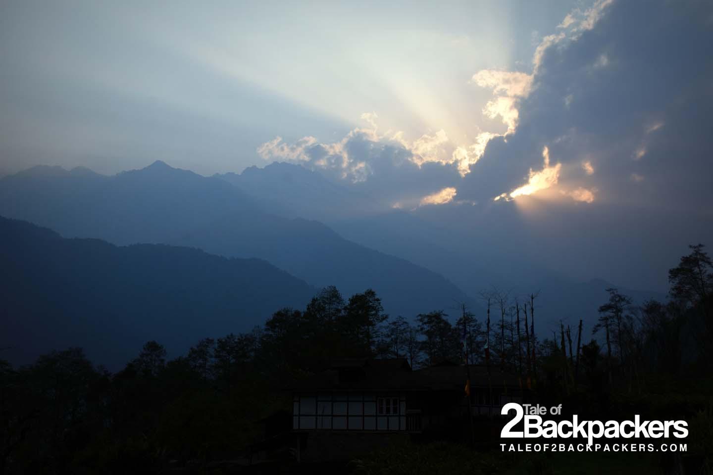 sunrise at Dzongu