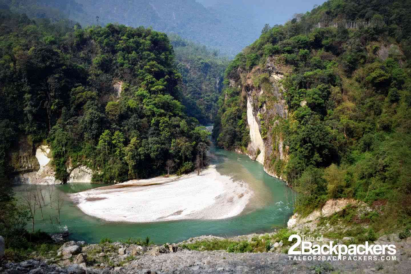 The Teesta river changed its course after landslide in dzongu