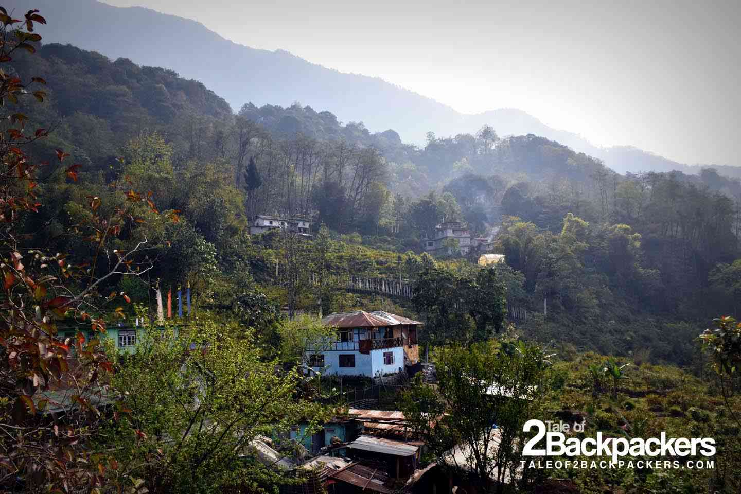 Dupden Homestay in Tingvong village in Upper Dzongu from a distance
