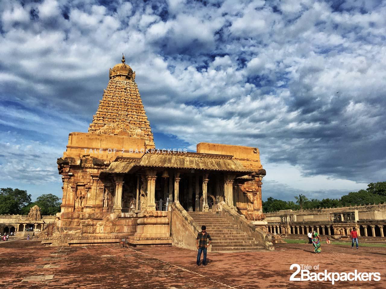 Entrance of the Brihadeshwara Temple of Thanjavur