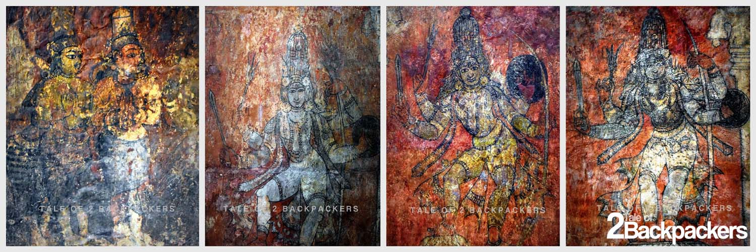 Frescoes at Brihadeeswarar Temple Thanjavur