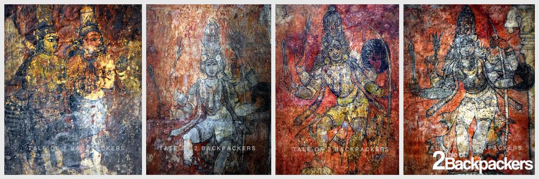 Frescoes at Brihadeeswarar Temple Thanjavur