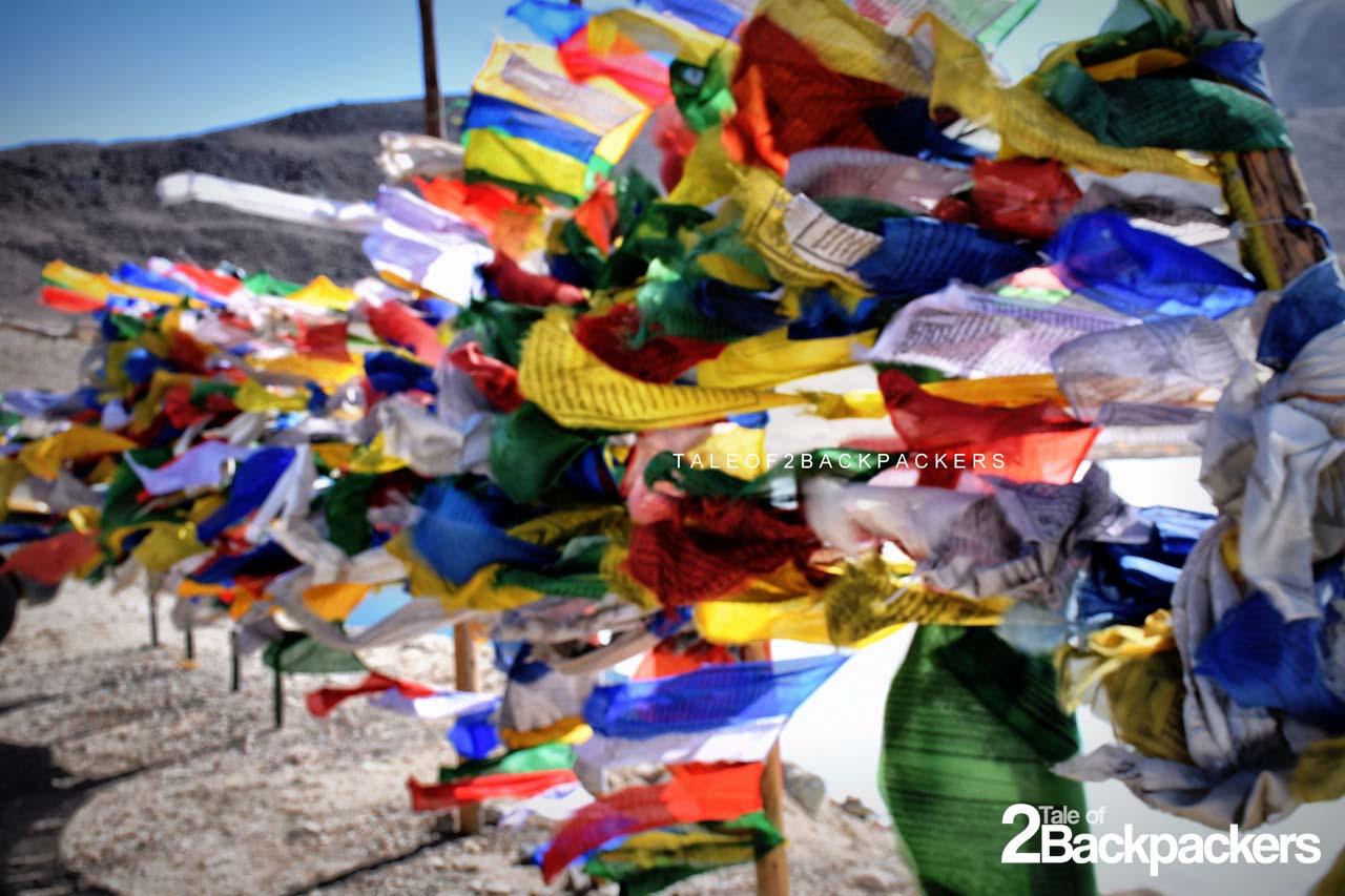 prayer flags at Gurudongmar Lake, North Sikkim Itinerary