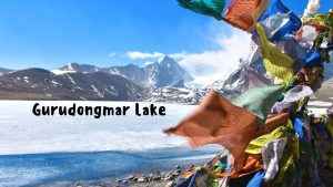 View of Gurudongmar Lake, North Sikkim