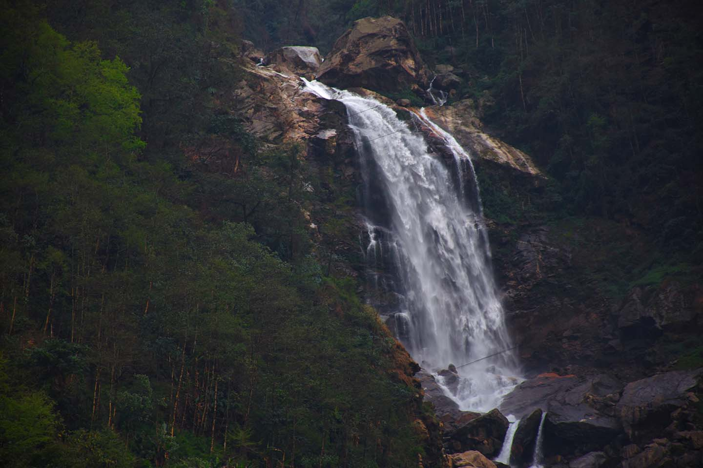 Seven Sisters Falls of Sikkim on the way to North Sikkim