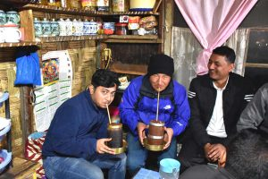 Having Chee at Lachen in North SIkkim