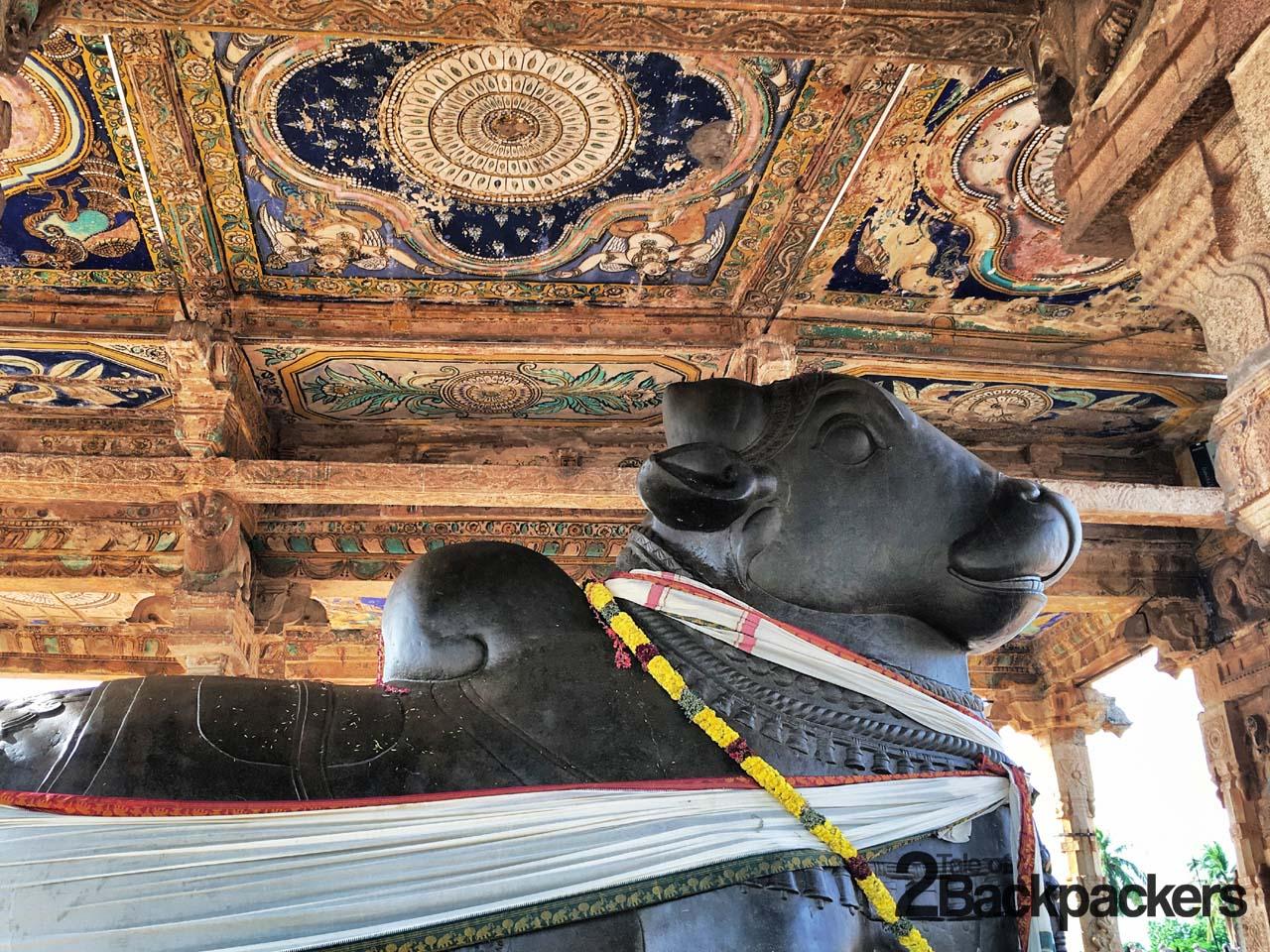 Idol of Nandi in front of the main Temple at Brihadeshwara Temple Tanjore